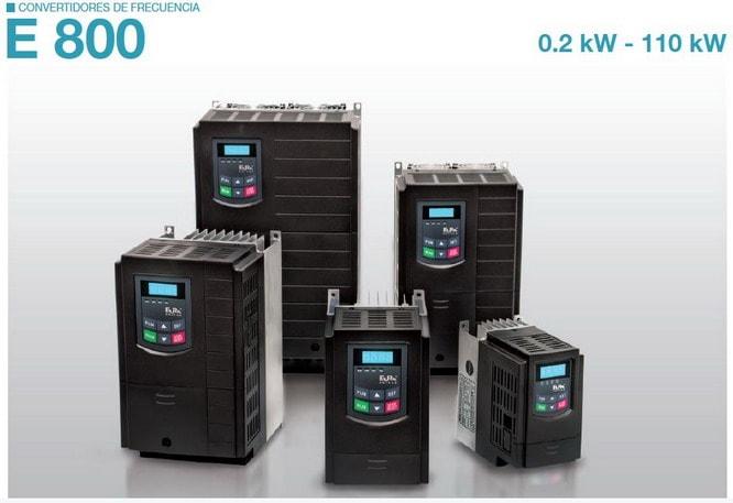 Los convertidores de frecuencia Eura Drives E800