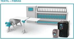 Eura Drives: Para la maquinaria de la industria textil o de fibras