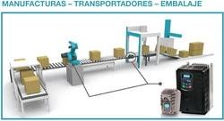 Eura Drives: Para la industria de la manufactura, transporte y embalaje